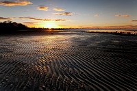 Sunset over Sand Ripples